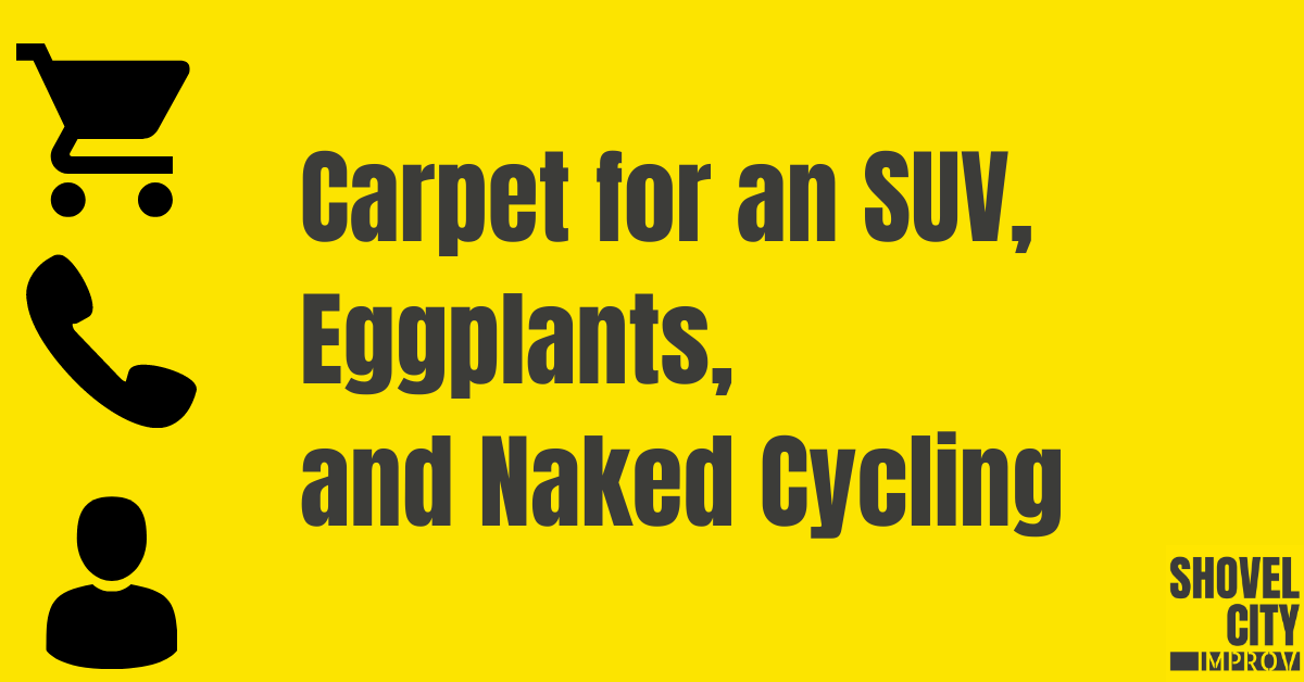 Episode 1 – Community Call – Carpet for an SUV, Eggplants, and Naked Cycling [PODCAST]